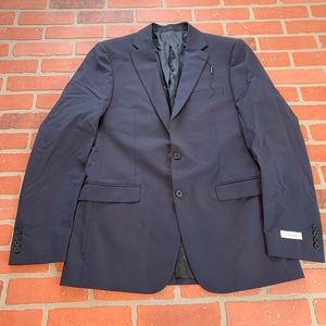 Calvin Klein Navy New Blazer Sport Coat Wool Blend
